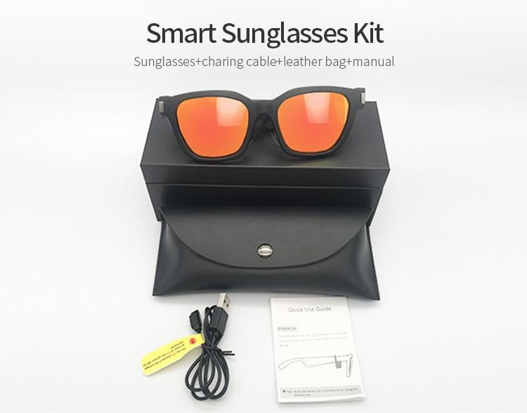 Exterior impermeável mp3 óculos de sol, rotação