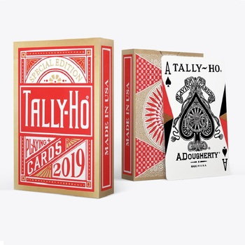 2019 Tally Ho Red Playing Cards Chinese New Year Limited Edition Deck USPCC Poker Magic Card Games Magic Tricks Props tally ho playing cards magic deck magic tricks cardistry deck