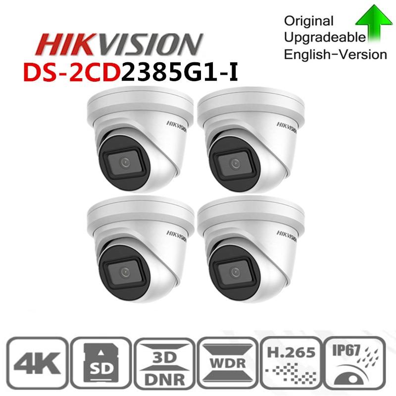 Hikvision Original IP Kamera DS-2CD2385G1-I 4K 8MP Netzwerk CCTV Kamera H.265 CCTV Sicherheit POE WDR Sd-karte Slot 4 teile/los