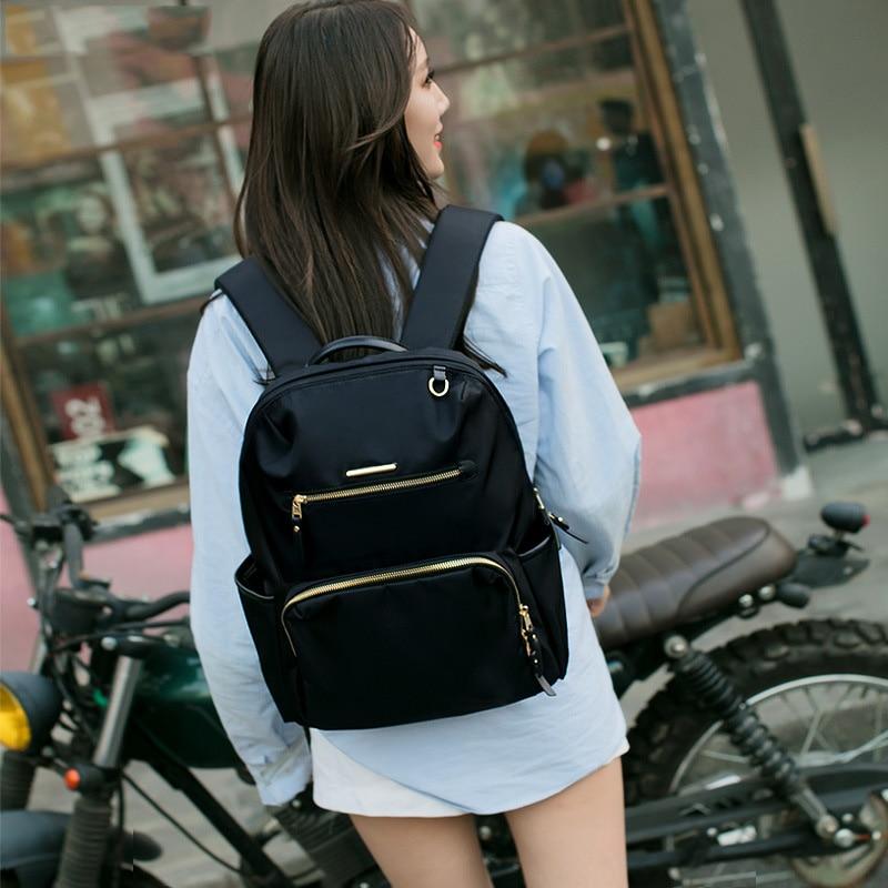 Oxford Waterproof Travel Backpack For Women Casual School Backpacks For Laptop Black Big Back Pack Female Back Bag Over Shoulder