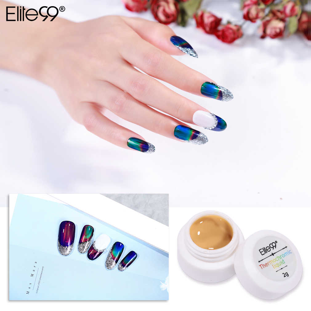 Elite99 thermochromic líquido cor em mudança gel unha polonês embeber fora uv gel verniz semi permanente unha arte manicure gel laca