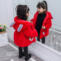 Infant Girls Faux Fur Coats Autumn Winter Thick Jackets Girls Warm Hooded Outerwear Coat Newborn Clothes Baby Cute Fox Coat