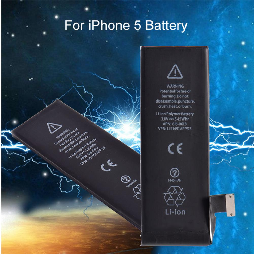 Cell Phone Battery 3.8V 1440MAH Mobile Phone Built-in Lithium Battery For IPhone 5