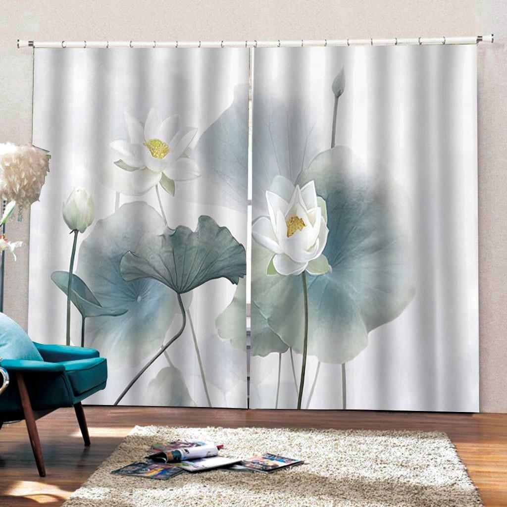 Прозрачный и простой китайский стиль листьев лотоса занавес для гостиной спальни на заказ любого размера - 3