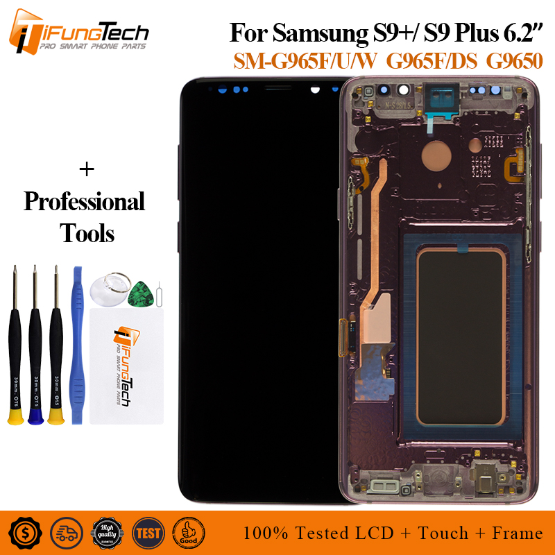 ORIGINAL <font><b>AMOLED</b></font> Replacement for <font><b>SAMSUNG</b></font> Galaxy <font><b>S9</b></font> <font><b>S9</b></font>+ LCD display Touch <font><b>Screen</b></font> Digitizer with Frame G960 G965 <font><b>s9</b></font> plus lcd image