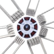48 sztuk zestaw wstępnie zbudowane cewki RTA RDA płaskie skręcone zacisk bezpiecznika Quad Hive Alien tanie tanio Wstępnie utworzonych Cewki Prebuilt Coil For your RDA and RTA Nickel