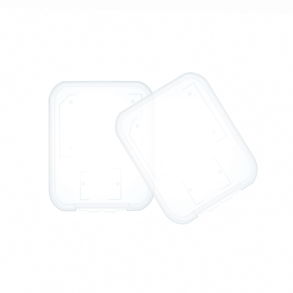 10pcs/lot Transparent Standard SD SDHC Memory Card Case Holder Box Storage New 2