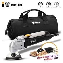 Электрический многофункциональный Осциллирующий набор инструментов DEKO 110 В/220 В с переменной скоростью, МНОГОФУНКЦИОНАЛЬНЫЙ электроинструмент, домашний инструмент с семью аксессуарами