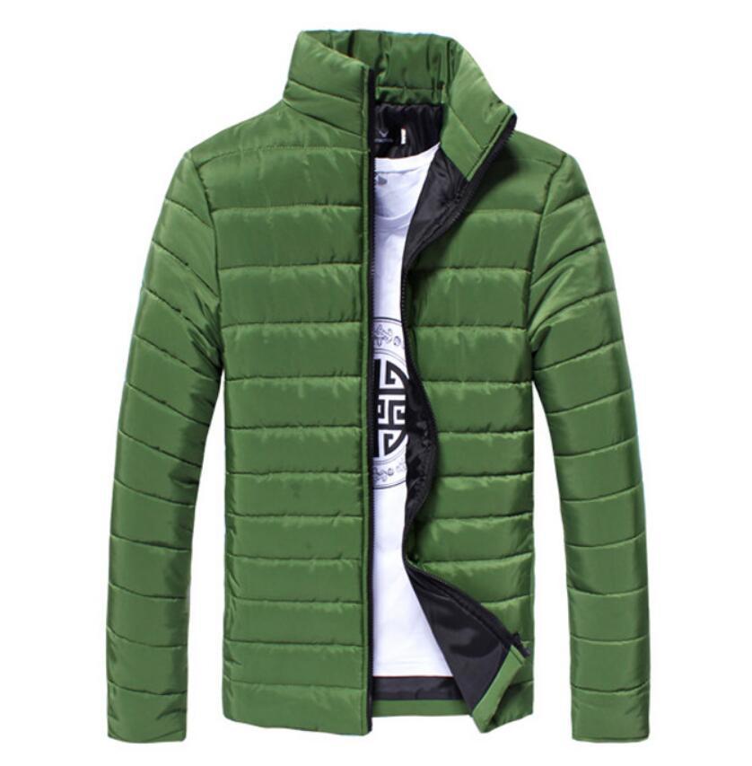 Hot 2020 Men's Fashion Solid Color Collar Wild Winter New Cotton Jacket Trend Men's Jacket
