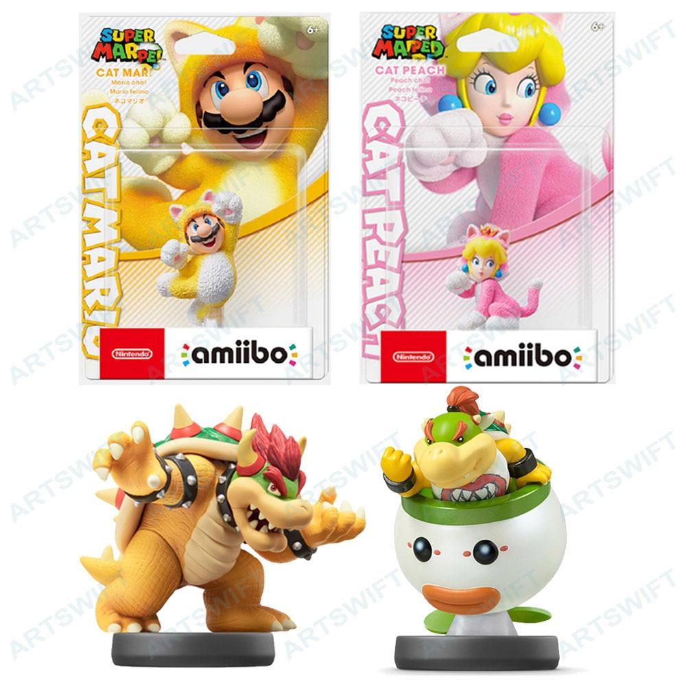 Nintendo Amiibo фигурка Супер 3D серии «Кот персик» браузер младший 2021 новый выпуск