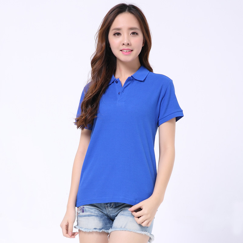 2020 Summer Women's Lapel Short Sleeve Solid Color Polo Shirt