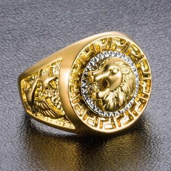 טבעת גולדפילד עם ראש אריה