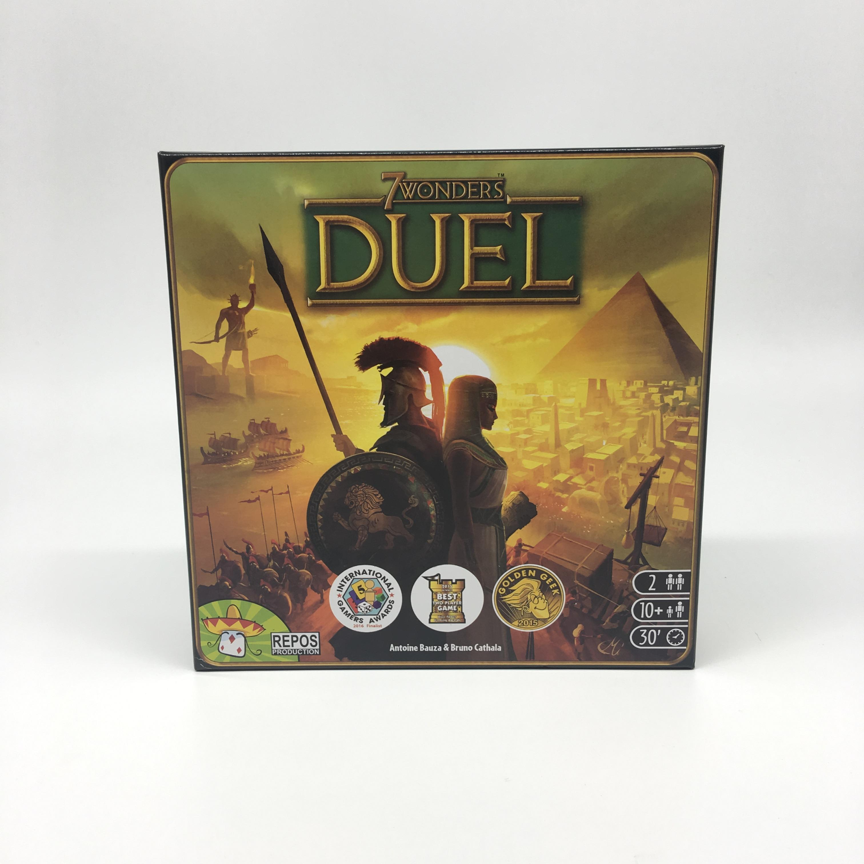 2020 New Card Game Duel Game English Version 7 Wonders  Board Game Party Family Board Game Kid Toys