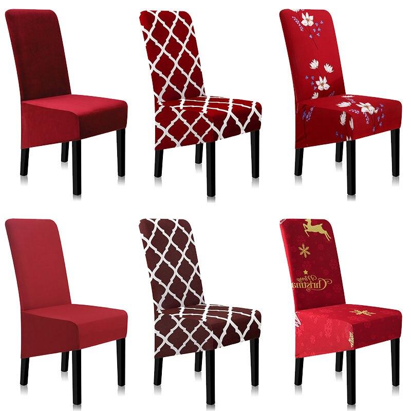 의자 커버 스트레치 기하학 스판덱스 의자 커버 인쇄 의자 커버 식당 a45014