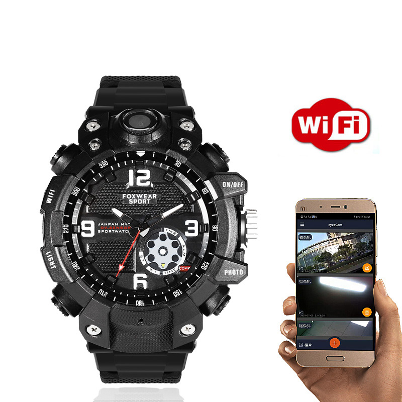 2K 1440P P2P Wifi Wireless Remote Monitor Video Photo Recorder HD Car dv dvr Cam Wristband Smart Watch Smartwatch Band Bracelet