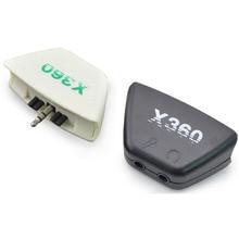 3.5ミリメートルジャックmicphoneイヤホン2.5ミリメートルオーディオアダプタコンバータにマイクロソフトxbox 360のコントローラーゲームパッドヘッドセットヘッドホン