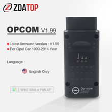 Op com para opel ano até 2014 opcom v1.99 ferramenta de diagnóstico OP-COM v1.99 bus interface com pic18f458 língua inglesa