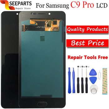 """6.0""""Test good For SAMSUNG GALAXY C9 Pro LCD C9000 Display Touch Screen Digitizer Assembly Replacement For SAMSUNG C9 Pro LCD"""