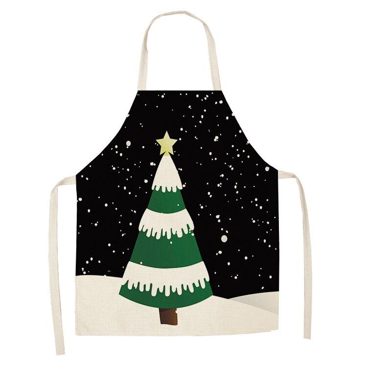 Christmas Sleeveless Cotton Linen Kitchen Cooking Baking Waist Bib Apron