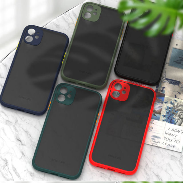 Camera Lens Protection Phone Case For iPhone 11 11 Pro Max XR XS Max X 8 7 6 6S Plus Translucent Matte Bumper Hard PC Back Cover