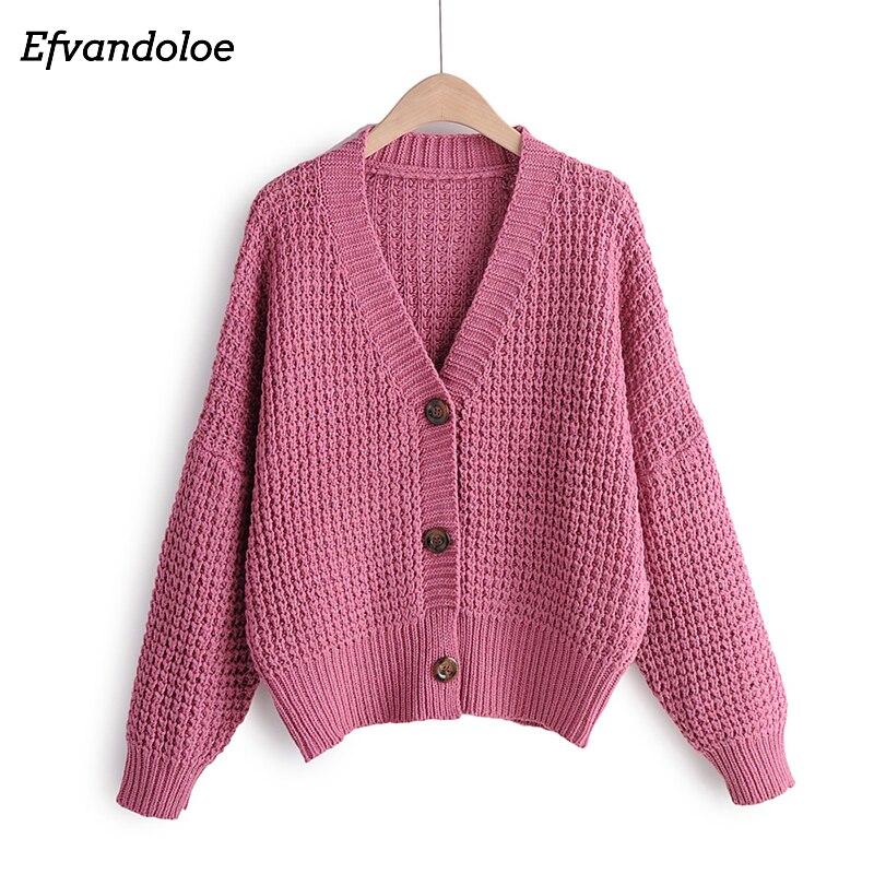 Efvandoloe Autumn Cardigan Sweater Women Winter Clothes Kardigan knitted fall 2019 Sweaters