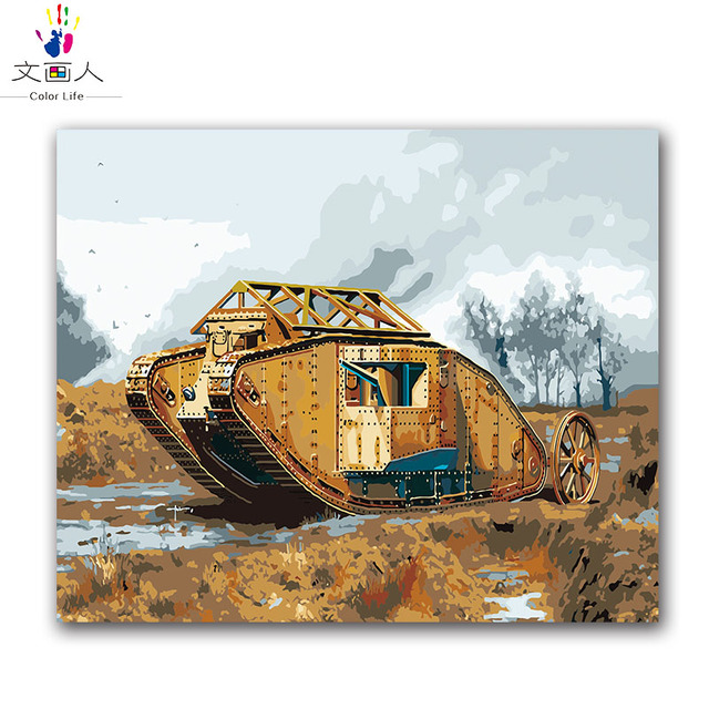 Painting By Numbers Mk 1 Tank WW1 British Military