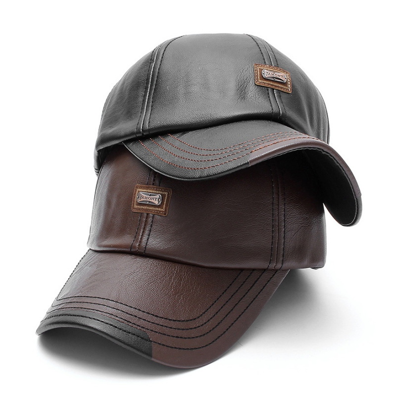 Men/'s Vintage Adjustable PU Leather Baseball Cap Outdoor Sports Driving Sun Hat