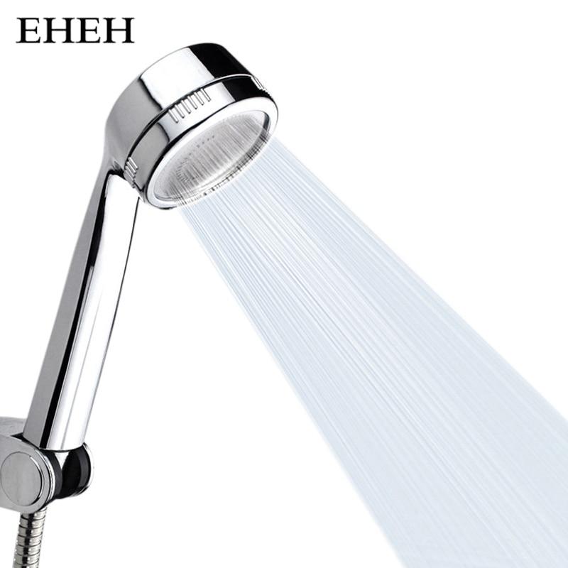 Zhang Ji Bathroom Round High Pressure Showerhead Sprayer Water Saving With Chrome ABS Handhold Shower Head