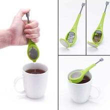 Tea Infuser Gadget Measure Swirl Steep Stir Press Plastic Tea & Coffee Strainer Tea Infuser Silica Gel Tea Filter Kitchen Tools дуршлаг oem infuser pjj1002w 20 tea filter