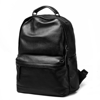 "Real leather men multi-function backpack fashion design men leather bag daily travel backpack 15"" laptop bag"