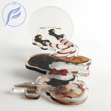 FANGQINGMAO Customized Printed  Acrylic Keychain Stand with Your Design