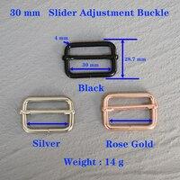 1 Pcs 30mm Metall Slider Einstellung Schnalle Schnalle Für, Der Handtasche Rucksack Gepäck Hund Kragen Gurtband Überzogene 30-LX