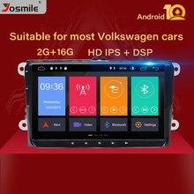 2 Din Android 10 Radio de coche para VW Passat B6 T5amarok volkswagen Skoda Octavia2 Polobseat leon golf 5 6 Multimedia GPS navegación