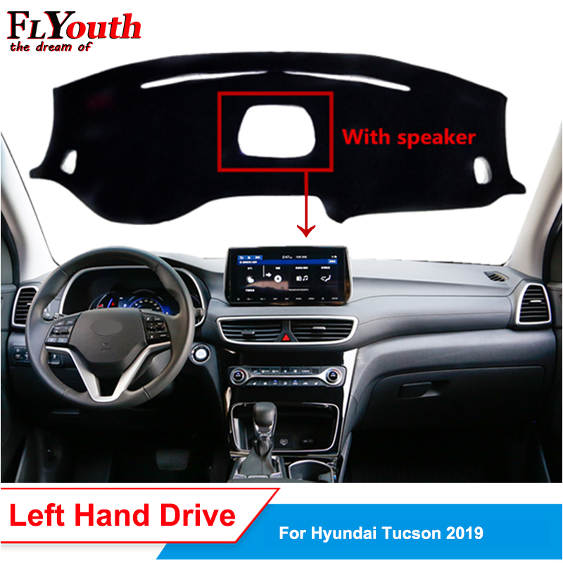 Car Dashboard Cover For Hyundai Tucson 2019 With Speaker Dustproof Dash Mat Dash Pad Carpet Anti-UV Non-slip 1Pc