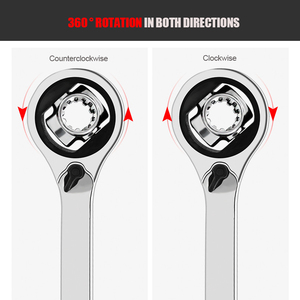 Image 2 - KINDLOV Tiger Wrench Ratchet Spanner 360 Degree Rotation Socket Wrench With Spline Bolts 52 In 1 Universal Car Repair Hand Tools