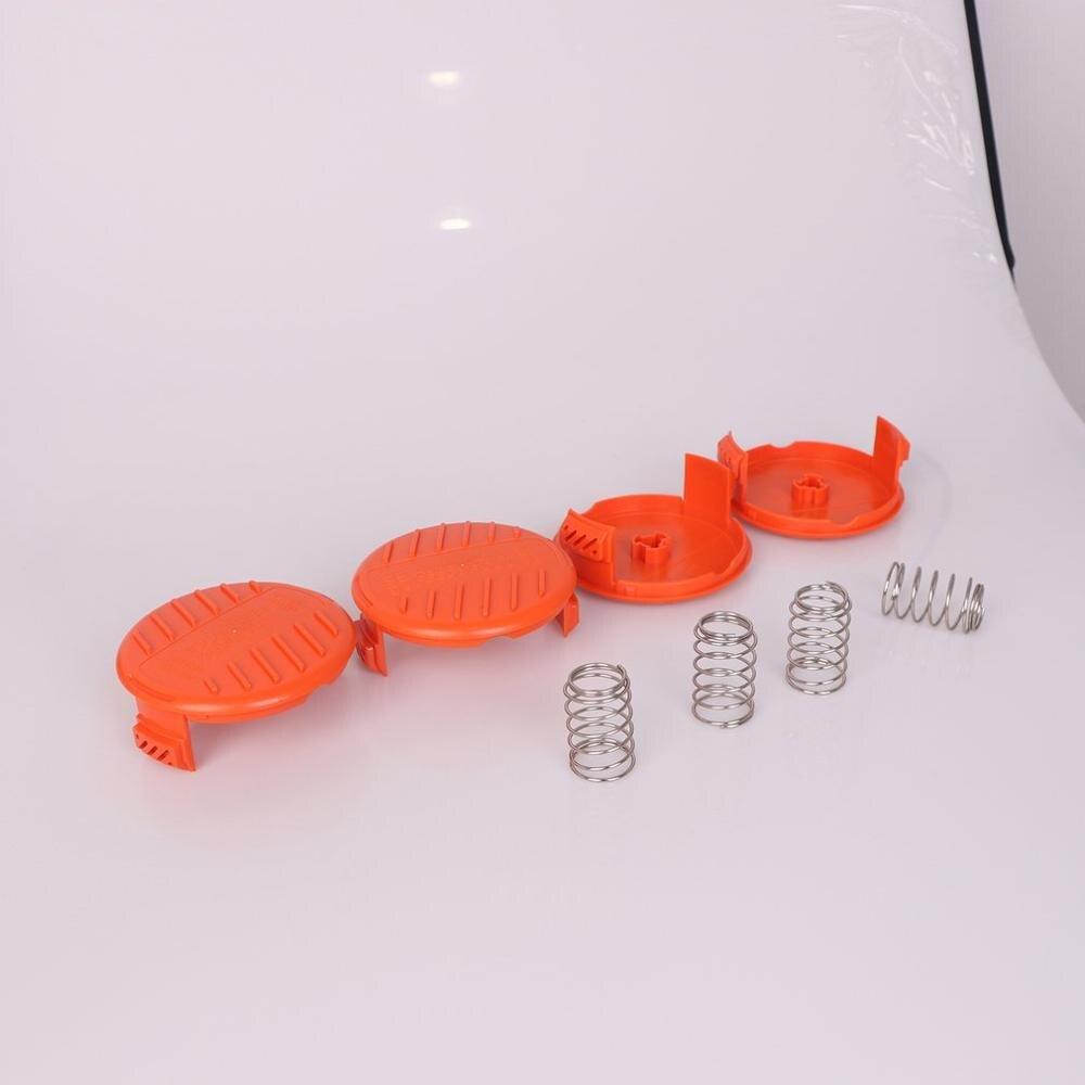 4pcs Replacement Spool String Trimmer Line Suitable For Black+Decker Spool