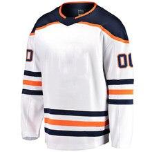 Homens américa hóquei no gelo jérsei edmonton fãs ponto jerseys draisaitl gretzky urso lucic messier personalizado jérsei