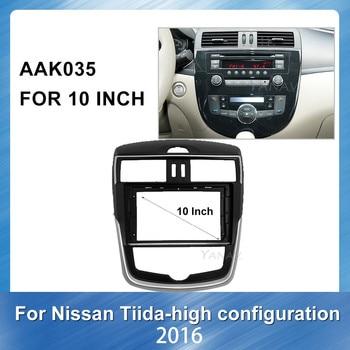 Car radio stereo receiver Panel Adaptor Refitting Kit frame For NISSAN Tiida High match 2011 Car Audio Fascia Frame Dash Panel