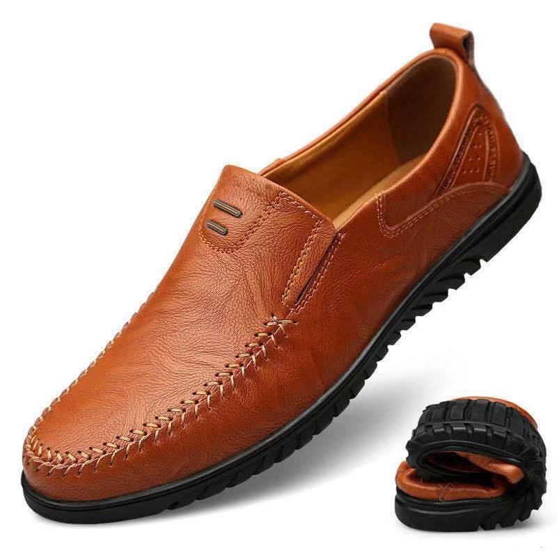Hot Sale 2020 New Genuine Comfortable leather Casual Shoes Men Flats Loafers Zapatos Hombre Shoes Male Lightweight Driving Footwear