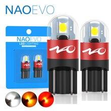 Naoevo t10 led auto w5w lâmpada 3030 5w5 194 para a6 c5 c7 q5 lado interior luz 12v 168 acessórios do carro lâmpada de afastamento cúpula