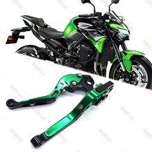 Para kawasaki z650 z900 ninja 650r er6f versys 1000 650 vulcan 2018 2019 2020 motocicleta dobrável extensíveis alavancas de embreagem do freio