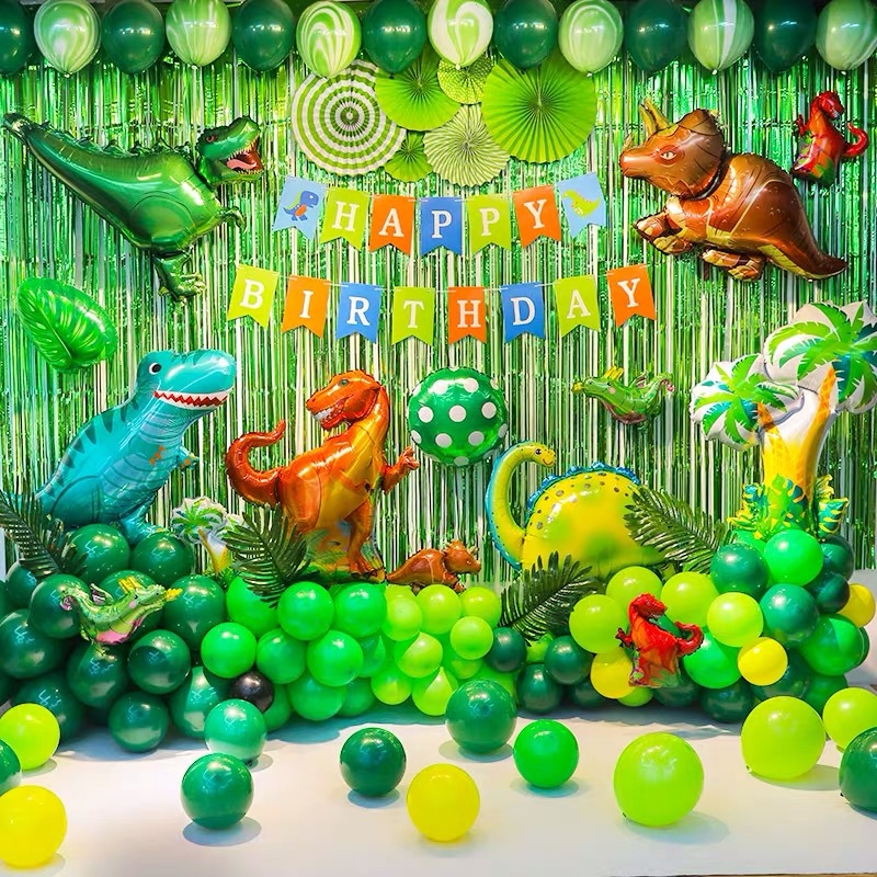 The Dinosaur Theme Baby Party Decorations Set Newborn Baby Girls Birthday Party Baby Shower Party Children's Day