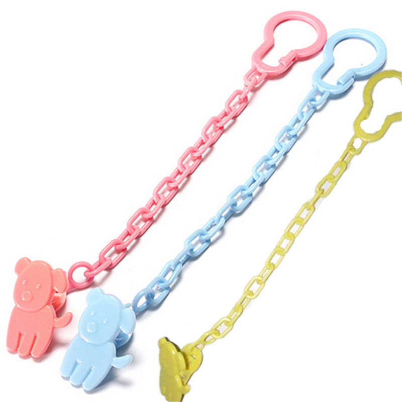 New Baby Pacifier Clip Chain New Baby Boys Girls Pacifier Clips Newborn Dummy Pacifier Chain Clip Holder Baby Nipple Feeding