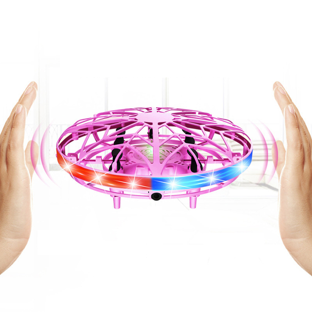 Mini Helicopter UFO RC Drone Infraed Hand Sensing Aircraft Electronic Model Quadcopter flayaball Small drohne Toys For Children 1