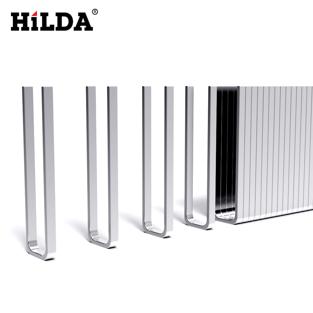 Hilda U-Shaped Or Straight Nail For Electric Nailer And Stapler Furniture Staple Gun For Frame Carpentry Woodworking Tools