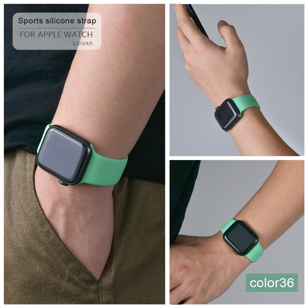 Soft Silicone Band for Apple Watch 105