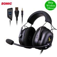SOMIC G936N PS4 Gaming Headset 7.1 Virtual 3.5 millimetri Wired PC Stereo Auricolari Cuffie con Microfono per Xbox 360 Del Computer Portatile