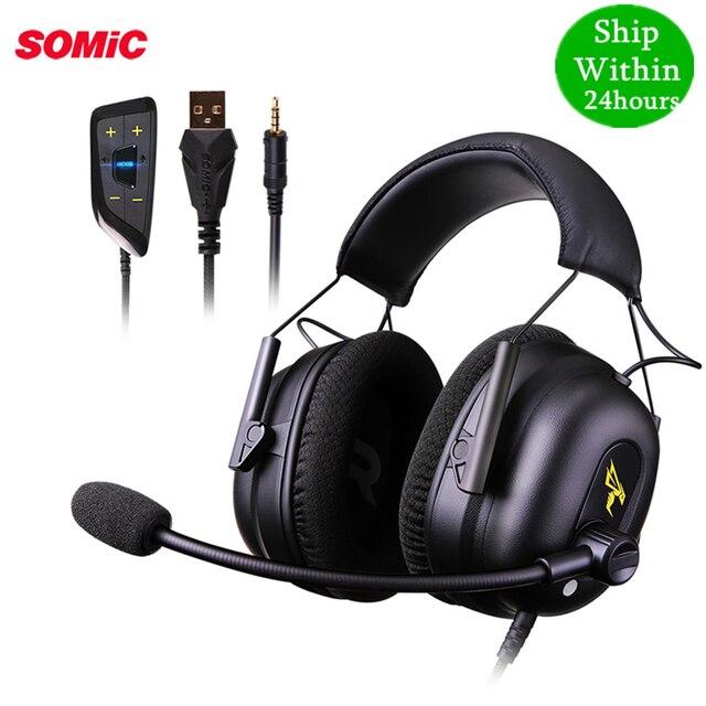 TAI NGHE SOMIC G936N PS4 Tai Nghe Chơi Game 7.1 Ảo Có Dây 3.5mm PC Tai Nghe Nhét Tai Tai Nghe có Mic dành cho Xbox Laptop