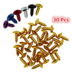 30 PCS 6 colors available moto parts universal motorbike screws fixed accessories motorcycle bolts kit fastener screw