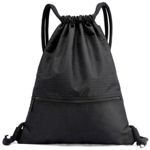 Backpack Drawstring Sport-Bags Black Football Ultralight Gym Nylon Hiking Hunting Outdoor